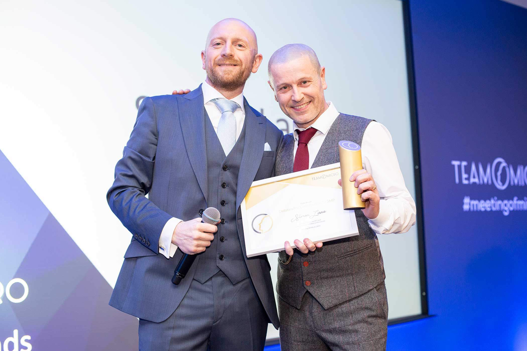 Damien Porter & Simon Lane at Team Micro Awards